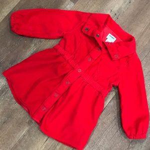 Red ❤️Corduroy Dress Coat
